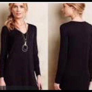 Anthropologie Pure & Good XS Black Tunic